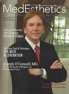 MedEsthetic Magazine Cover - Dr. Joseph O'Connell